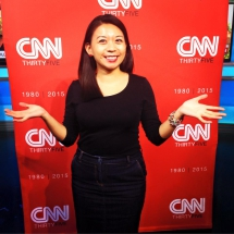 Celebrating CNN's 35th anniversary. Hong Kong, 2015.