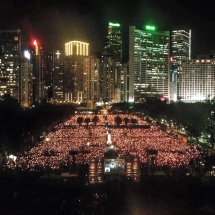 Tiananmen Square crackdown commemoration in Hong Kong