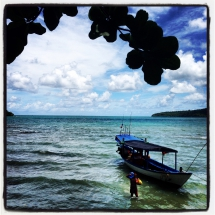 Pulling up into Koh Ta Kiev, Cambodia