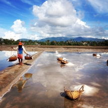 Salt fields in Kampot, Cambodia